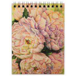 """Блокнот """"Пионы старого парка"""" - цветы, нежность, пионы, пастель, прованс"""