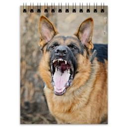 "Блокнот ""оскал"" - собака, злость, зубы, овчарка"
