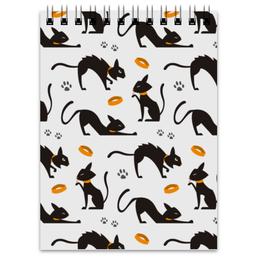 "Блокнот ""Чёрные кошки"" - кот, кошка, животные, коты, котёнок"