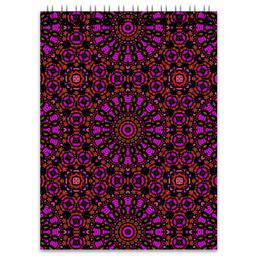 """Блокнот """"purple"""" - арт, узор, фиолетовый, абстракция, фигуры"""