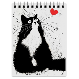 """Блокнот """"Кот, мечтающий о Любви"""" - любовь, кот, мечта"""