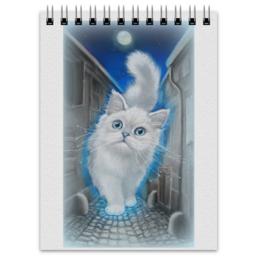 """Блокнот """"ЛУННЫЙ КОТ"""" - кот, животные, рисунок, сказка"""
