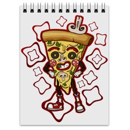 """Блокнот """"Мистер Пицца"""" - прикол, италия, пицца"""