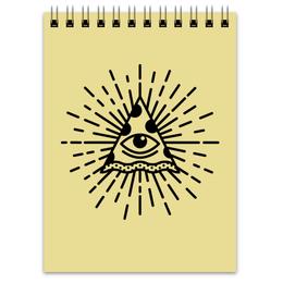 """Блокнот """"Pizza Illuminati"""" - прикольные, иллюминаты, illuminati, пицца, pizza"""