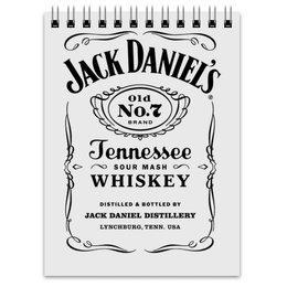 """Блокнот """"Jack Daniels"""" - арт, виски, стиль, рисунок"""