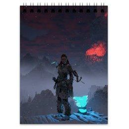"""Блокнот """"Horizon Zero Dawn"""" - ps4, истребитель, horizon zero dawn, рыскарь, frozen wilds"""