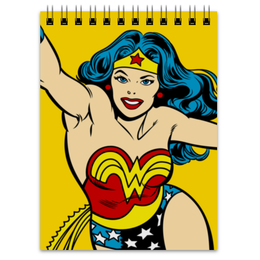 "Блокнот ""Чудо-женщина"" - wonder woman, чудо женщина, комиксы, супергерои, лига справедливости"