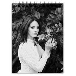 """Блокнот """"Lana Del Rey"""" - черный, lana del rey, lana, лана, лана дель рей"""