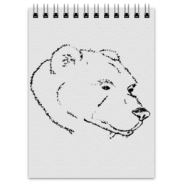 """Блокнот """"Блокнот с медведем"""" - рисунок"""