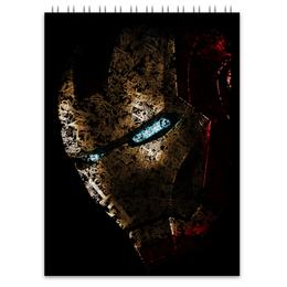 """Блокнот """"Железный человек"""" - комиксы, марвел, iron man, тони старк, жч"""