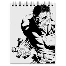"""Блокнот """"Халк (Hulk)"""" - комиксы, hulk, мстители, avengers, марвел"""