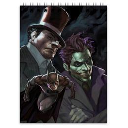 """Блокнот """"Бэтмен"""" - комиксы, бэтмен, джокер, пингвин, batman"""