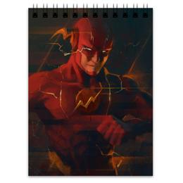 "Блокнот ""Флэш (Flash)"" - flash, комиксы, dc comics, барри аллен"