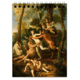 """Блокнот """"Пан и Сиринга (Никола Пуссен)"""" - картина, живопись, мифология, пуссен, классицизм"""