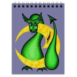 """Блокнот """"Китайский гороскоп - год дракона"""" - звезды, небо, год дракона, на луне, китайский гороскоп"""