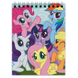 "Блокнот ""My Little Pony"" - rainbow dash, my little pony, applejack, friendship is magic, twilight sparkle"