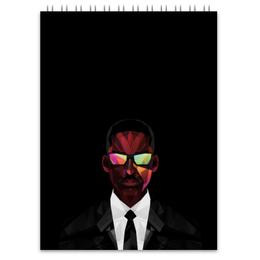 """Блокнот """"Уилл Смит (Will Smith)"""" - уилл смит, люди в черном, фокус, я-легенда"""