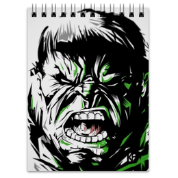 "Блокнот ""Халк (Hulk)"" - комиксы, hulk, марвел, халк, брюс баннер"
