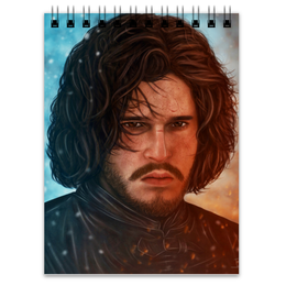 "Блокнот ""Джон Сноу"" - игра престолов, game of thrones, stark, jon snow, джон сноу"