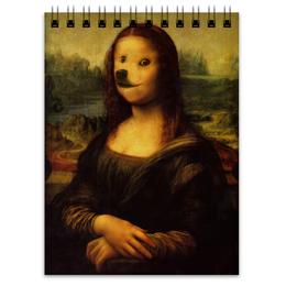 "Блокнот ""Mona Doge"" - мем, dog, meme, doge"