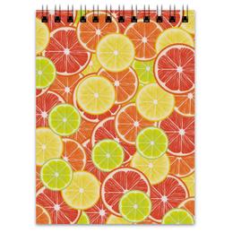 """Блокнот """"Цитрусы"""" - апельсин, лайм, лимон, грейпфрут, дольки"""