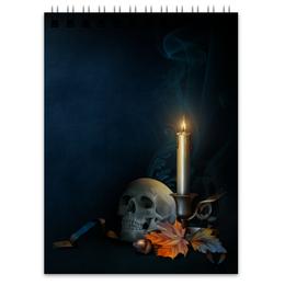 """Блокнот """"Хэллоуин"""" - череп, хэллоуин"""