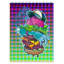 "Блокнот ""Zombie Burger"" - zombie, зомби, ходячие мертвецы, the walking dead"