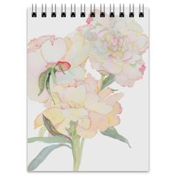 """Блокнот """"Пионы акварель"""" - цветы, акварель, пионы, цветочный рисунок, нежная расцветка"""