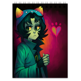 "Блокнот ""Homestuck Nepeta"" - girl, cat, homestuck, nepeta"