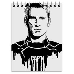 "Блокнот ""Капитан Америка"" - комиксы, кэп, мстители, марвел, captain america"
