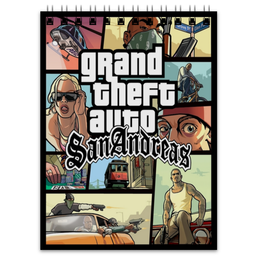 "Блокнот ""Grand Theft Auto San Andreas"" - grand theft auto, gta, rockstar, гта, рокстар, rockstar games, gta sa, san andreas, grand theft auto san andreas, сан андреас"