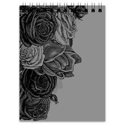 """Блокнот """"Букет роз"""" - цветы, роза, розы, букет, шипы"""