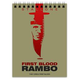"Блокнот ""Rambo"" - боевик, рэмбо, сильвестр сталлоне, rambo, sylvester stallone"