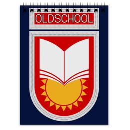 """Блокнот """"Oldschool"""" - ссср, олдскул, эмблема, старая школа, образование"""