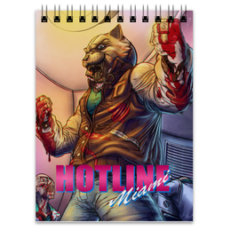 "Блокнот ""Hotline Miami Tony"" - hotline miami, хотлайн маями, горячая линия, tony, тони"