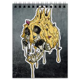 "Блокнот ""Gold skull"" - skull, череп, золото, смерть, gold"