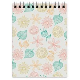 """Блокнот """"Цветочный"""" - цветы, листья, растения, флора"""