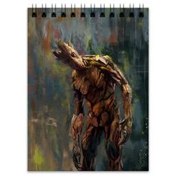 "Блокнот ""Грут (Groot)"" - марвел, ракета, стражи галактики, groot, guardians of the galaxy"