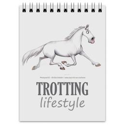 """Блокнот """"TROTTING"""" - лошадь, конь, рысак, trot"""