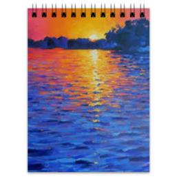 """Блокнот """"Закат на море"""" - море, закат, sunset"""