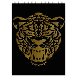 """Блокнот """"Леопард"""" - кот, голова, рисунок, пятна, леопард"""