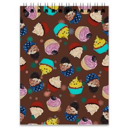 """Блокнот """"Капкейки в шоколаде"""" - еда, вкусно, коричневый, пирожные, капкейки"""