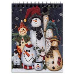 "Блокнот ""Снеговики"" - новый год, снеговик, 2015, снеговики, snowman, new year"