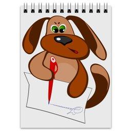"""Блокнот """"Без названияПес Захар пишет письмо"""" - пес, письмо, уроки, писать, сочинение"""