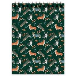 """Блокнот """"лесные мотивы"""" - животные, кардиган, пемброк, вельшкорги, бохостиль"""