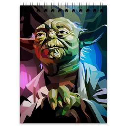 "Блокнот ""Йода (Yoda)"" - звездные войны, йода, джедай, star wars, yoda"