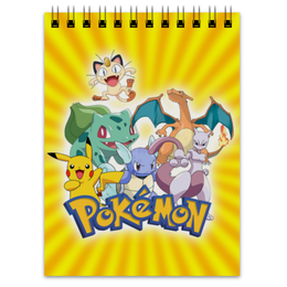 """Блокнот """"Покемоны"""" - рисунок, аниме, pokemon, покемоны"""
