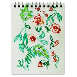 """Блокнот """"Дикие цветы"""" - лето, цветы, листья, красные цветы"""