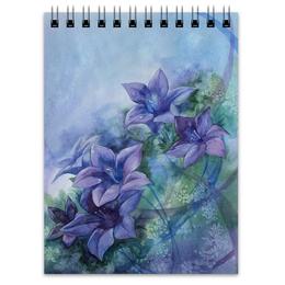 """Блокнот """"Лилии"""" - цветы, фиолетовый, лилии"""
