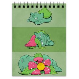 "Блокнот ""Бульбазавр"" - nintendo, bulbasaur, pokemon go, покемон го, нинтедо"